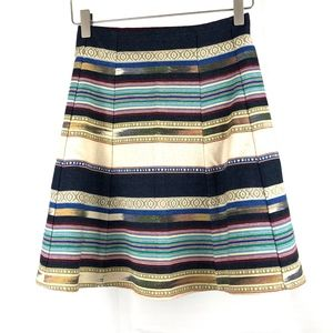 ANTHROPOLOGIE Striped Multicolor Striped Skirt